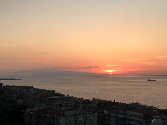 爱琴海落日