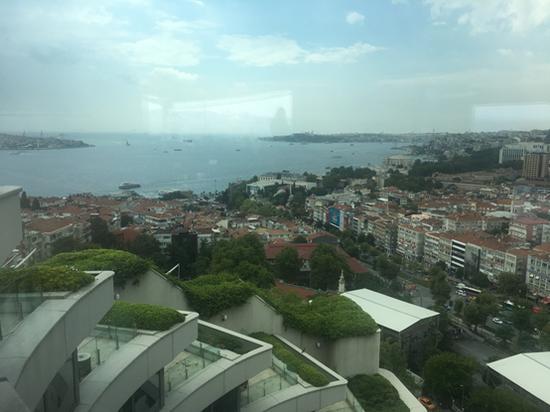 伊斯坦布尔康拉德酒店天台餐厅所见