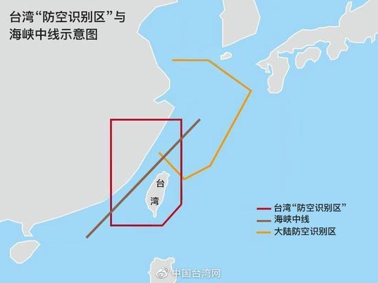 我军在3个海域同时军演 台军:演习区越过台海中线