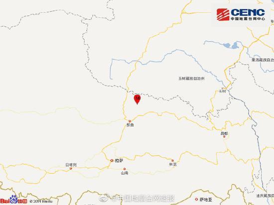 西藏那曲市聂荣县发生3.0级地震 震源深度9千米图片