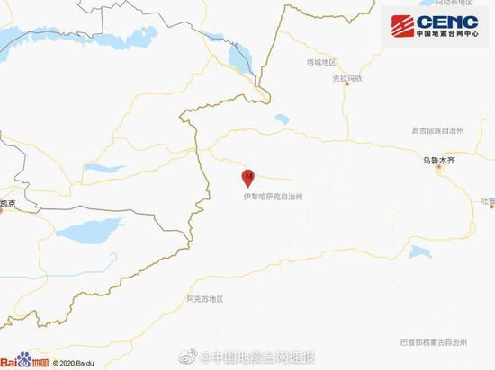 新疆伊犁州巩留县发生4.2级地震 震源深度17千米图片