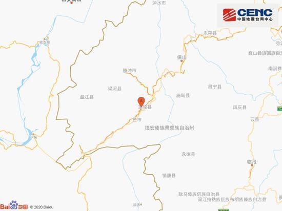 云南保山市龙陵县附近发生3.2级左右地震图片