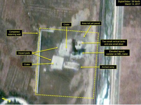 去年3月14日,试验场卫星图