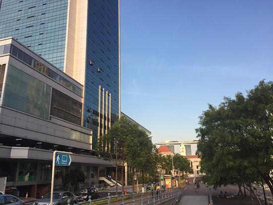 朝鲜大使馆所在大楼外景。