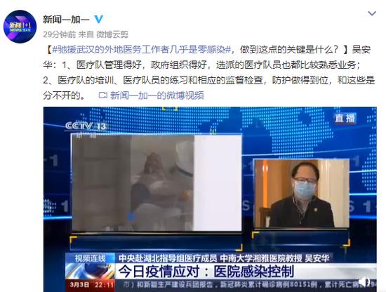 驰援武汉的外地医务工作者几乎是零感染,做到这点的关键是什么?图片