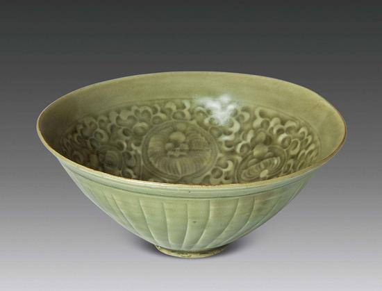 北宋 耀州窑唐草纹碗