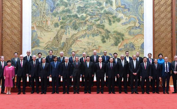 习近平会见全球首席执行官委员会外方代表