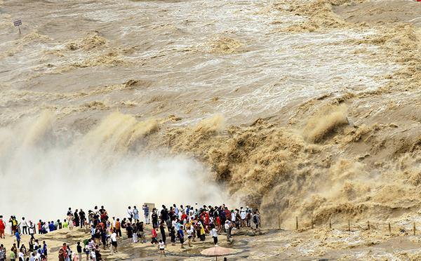 黄河壶口瀑布水量增大 迎来一年最佳观赏期