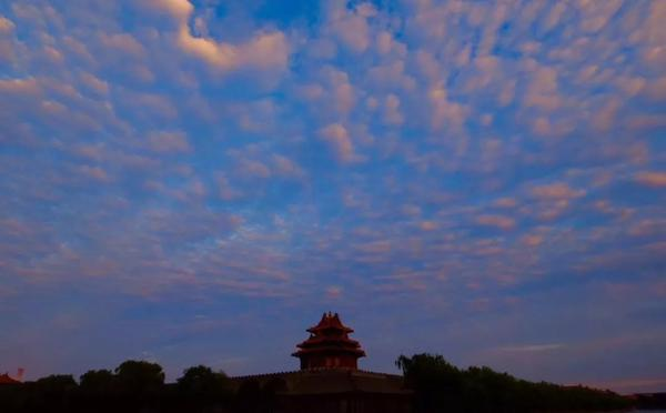 北京最美晚霞刷屏!未来七天都是蓝天美景