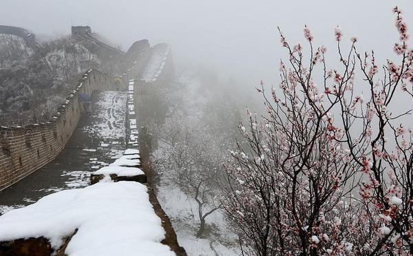 北京逢春雪 郊区美景披银装风光如画