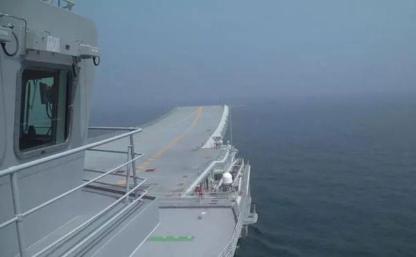 国产航母第五次海试 大量内部画面公开