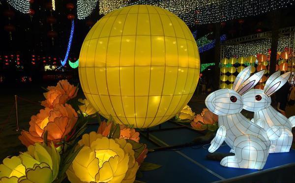 香港维多利亚公园举办中秋彩灯会