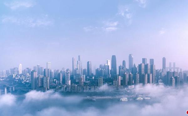 雾都重庆如同漂浮云间 仿佛置身仙境