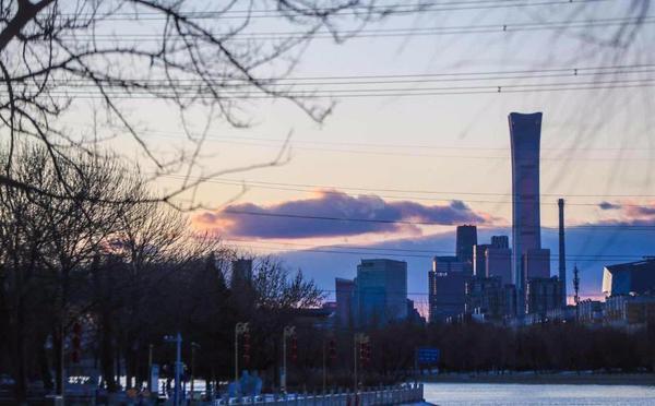 风卷云霞,傍晚的北京天空太美