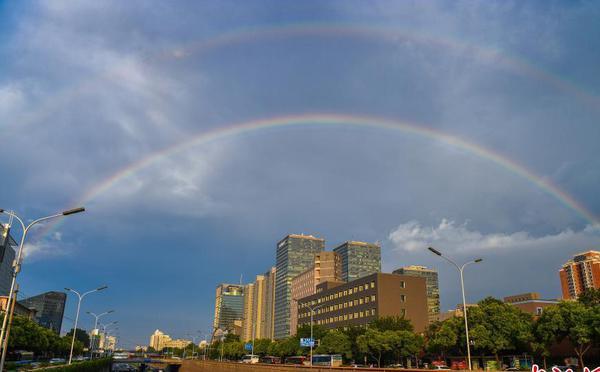 北京雨后现双彩虹