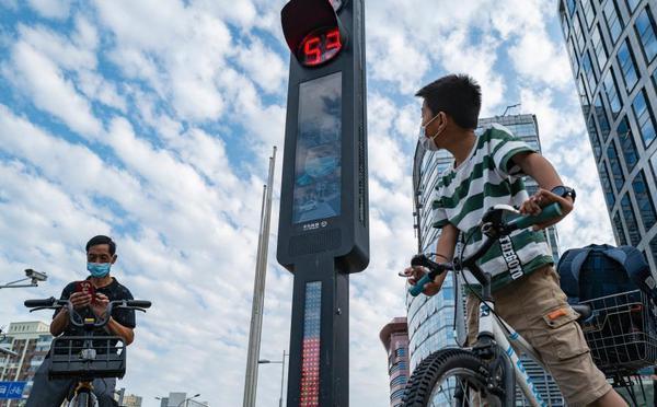 北京街头上线智能交通系统