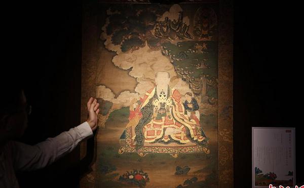 古代珍贵唐卡在北京展出