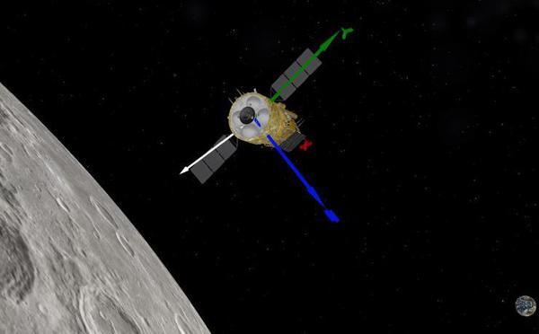 嫦娥五号探测器进入近圆形环月轨道飞行