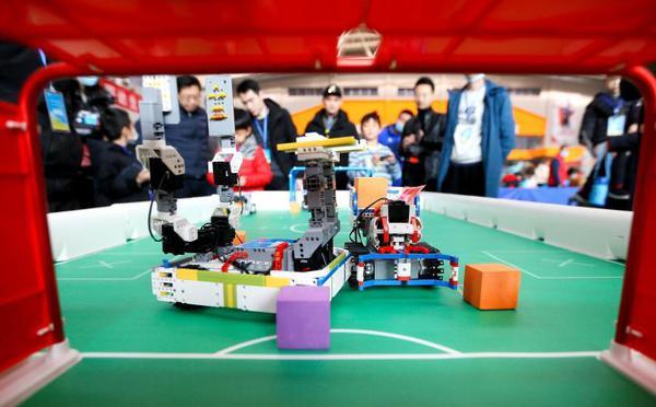 山东即墨举办中小学生机器人大赛