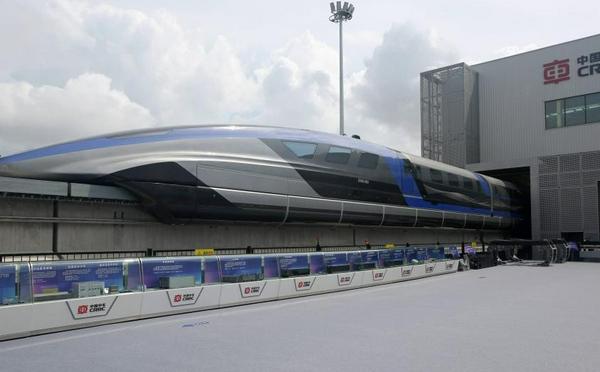 中国时速600公里高速磁浮交通系统下线
