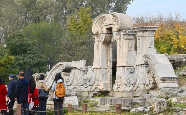 北京圆明园罹难161周年 对公众免费开放