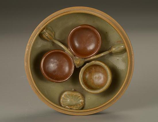 北宋耀州窑青釉盒