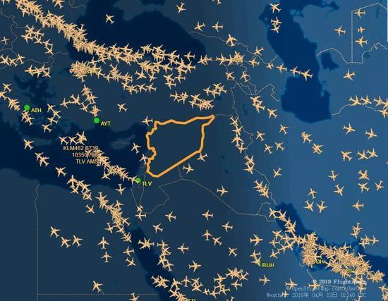 叙利亚领空一片净空