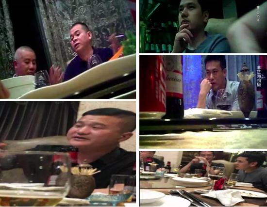 吃饭视频截图。