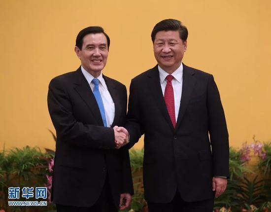 ▲资料图片:2015年11月7日,两岸领导人会面在新加坡举行。
