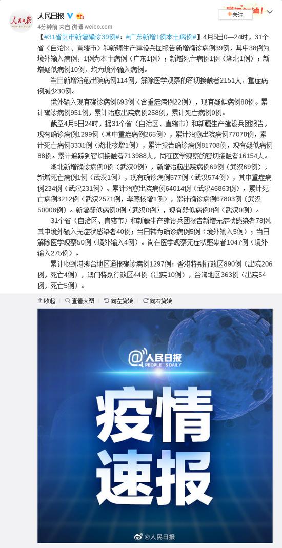 31省区市新增确诊39例:广东新增1例本土病例图片