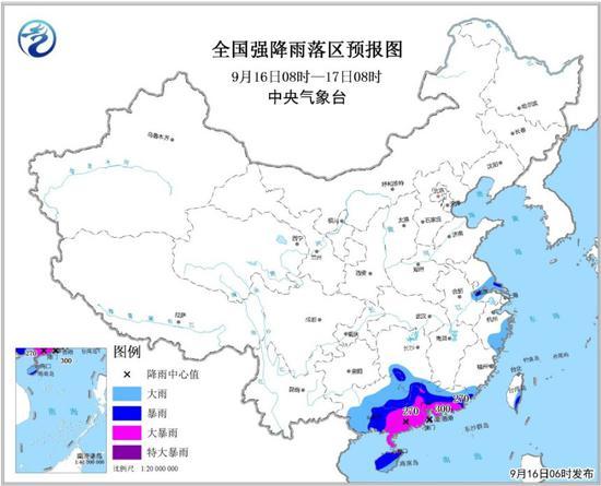 中央气象台继续发暴雨橙色预警:华南大部大到暴雨