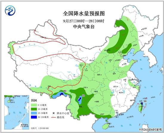 西南多地将有降雨 冷空气影响北方局地降温达10℃