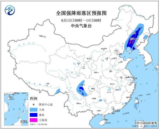 暴雨蓝色预警持续 辽宁吉林等地局地有大暴雨_网赚新闻网