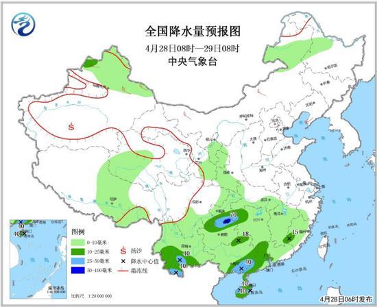 江南等地28日起有中到大雨 京津冀部分地区有霾郭美美事件影响