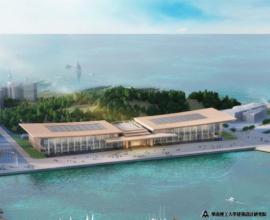 青岛国际会议中心俯瞰效果图