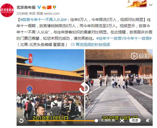 故宫今年十一不再人从众 视频对比明显图片