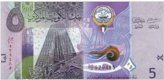 ↑科威特5第纳尔纸币(图片来源网络)
