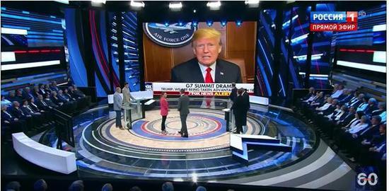 俄罗斯《60分钟》节目截图