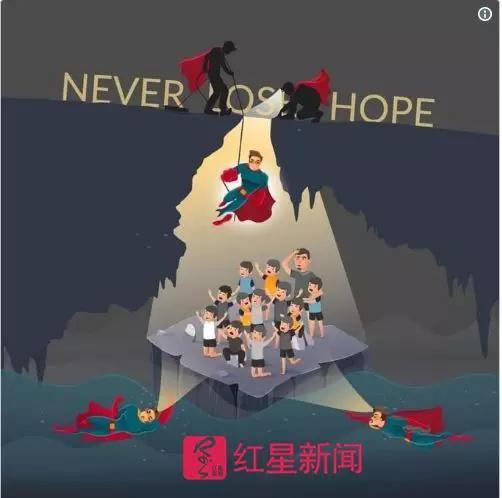 ▲泰国媒体制作的图:永不放弃希望 图据英国《卫报》