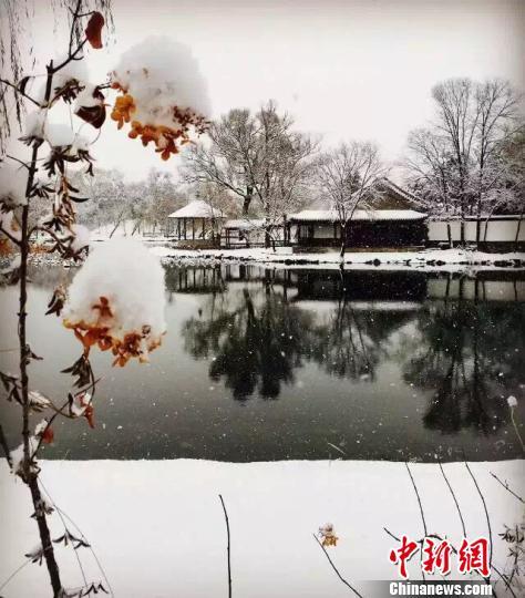 避暑山庄雪景 影友提供 摄