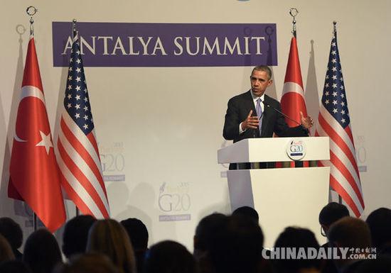 奥巴马在与菲总统阿基诺举办的记者会上谈及南海