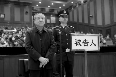 今天,杨志刚在市二中院出庭受审。京华时报记者 赵思衡 摄