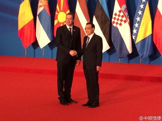 强与中东欧国家领导人会晤图片
