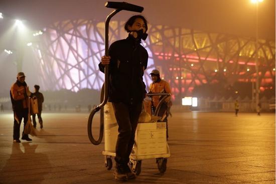 北京吸霾第87天,坚果兄弟鸟巢奥克匹克公园一带功课