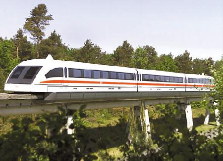 列商用低速磁浮列车通试运|磁悬浮