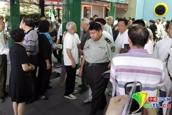 毛新宇出现在汪东兴追悼会上