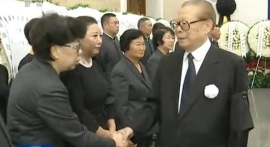 江泽民出席张震将军的追悼会