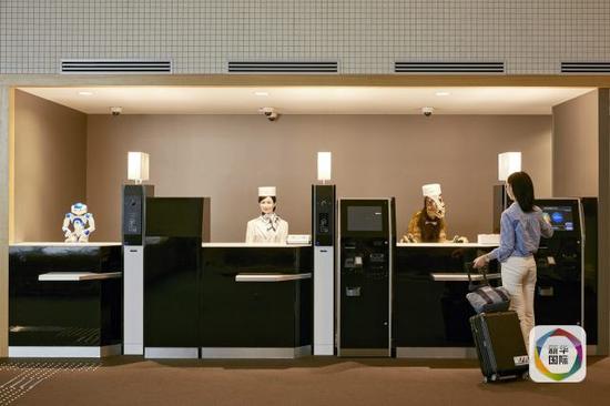 图为日本长崎佐世保一家机械人旅店前台。这家旅店内一切事情均由机械人完结。(图像来历:新华/欧新中文)