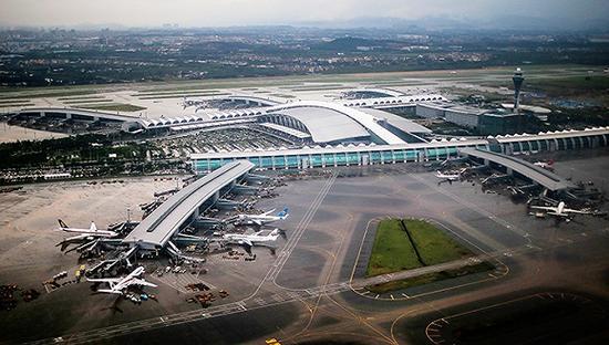 广州白云世界机场。材料图