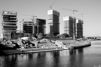 ▲2015年10月9日,建设中的通州行政副中心核心区域。图/东方IC